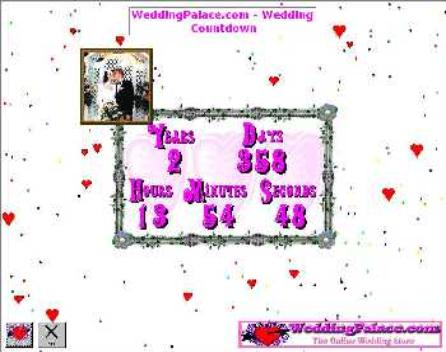 Free screensaver for wedding date countdown